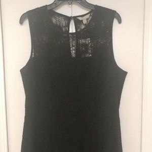 NWT*Banana Republic Black Lace Fit and Flare Dress